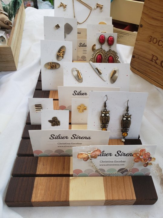Wooden displays by Dunnswood